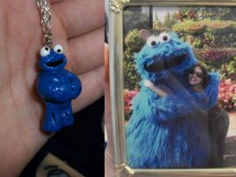 Cookie Monster Charm by AshiviAlpha