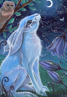 ACEO - Moon Gazer by DawnUnicorn