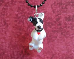 Custom dog charm by DragonsAndBeasties