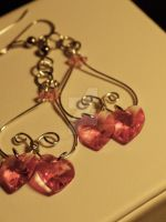 Pink Swarovski Heart Design by a-thorn-in-the-rose