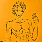 Random muscular redhaired man - lineart (sketch) by May-Shad