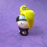 Deidara of the Akatsuki chibi by TrenoNights
