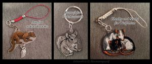 Creature Charm Gift Batch 2 by MoonsongWolf