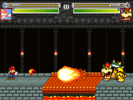 Bowser castle stage- MMP by mariotimemugen