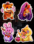 5 NIGHTS AT FREDDIES Stickers by ohmonah