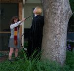 Hermione threatens Malfoy by sweetdemise