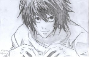 Lawliet's Smile by LifesaDoodle