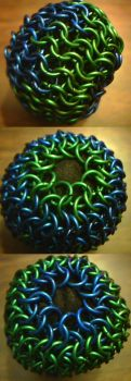 Green and blue stress ball by lunabellvarga