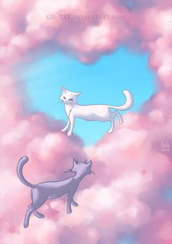 Cats in clouds by kir-tat