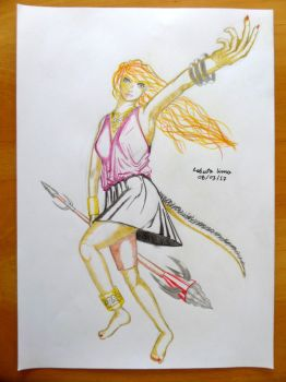 Woman and Spear Coloured by betopyt