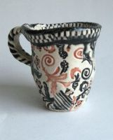 Proto-Thesis: Underglaze Cup by nikkidreamer