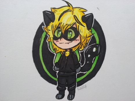 Chibi chat noir by Doodlejustcuz