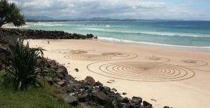 Byron Bay Main Beach Sand Circles by LESHA