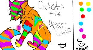 Dakota the Raver Wolf for IS by BloodRayne-demonwolf