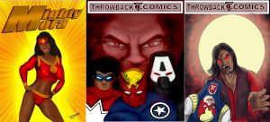 Throwback Comics Covers by Rene-L