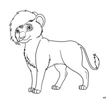 Lion Lineart *FREE* by XxTheShatteredxX