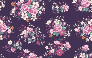 seamless vintage rose pattern by dengwei1361159