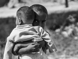 Clutching Baby Tightly by InayatShah