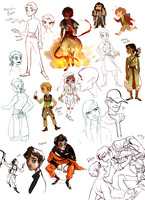 Sketch dump: late 2013-2014 by mangoranger