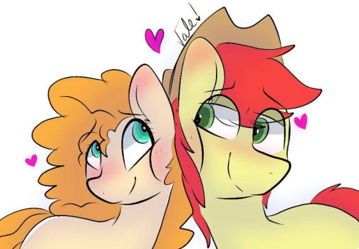 Bright Mac and Buttercup  by CelestThePegasus