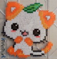 Orange Kitty by PerlerPixie