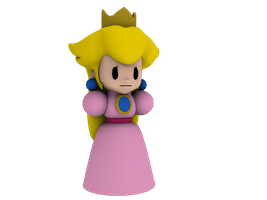 Paper Princess Peach :WIP: by Luigimariogmod