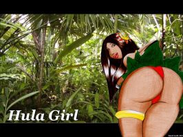 Hula Girl Wallpaper by ImfamousE