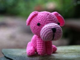 amigurumi - Pink Dog by zarawut