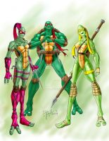 raph and turtlettes by Superpael