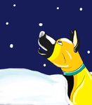 It's snow, Melvin by FlamewolfTheWhite