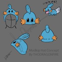 Mudkip hat concept by Boarfeathers