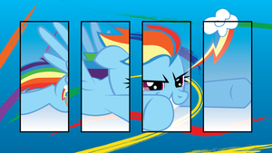 Rainbow DASH Panel wallpaper by Silentmatten