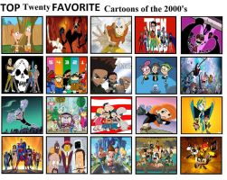 Top 20 Favorite Cartoons of the 2000s by mlp-vs-capcom
