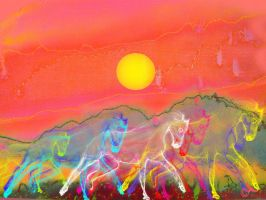 Really really wild Horses... by MODDEYDOO