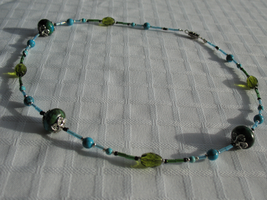 Green and Blue Necklace by sampdesigns