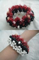 3D Pokeball Kandi Cuff by kookiekween99