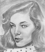 Lauren Bacall by nev777