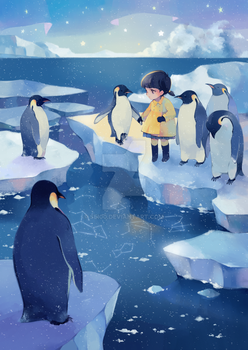 walking with penguins by Sei00