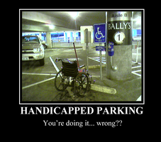 Handicapped Parking by KittyKross
