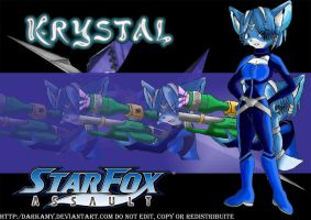 Star Fox Assault Krystal by DarkAmy