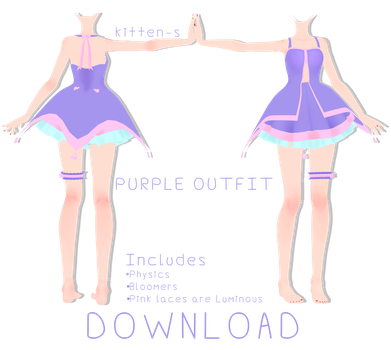 Purple Outfit + Download by kitten-S