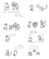 Mystery Dungeon Sketches by CardcaptorKatara