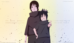 Wallpaper Itachi y Sasuke Frase by seba1496