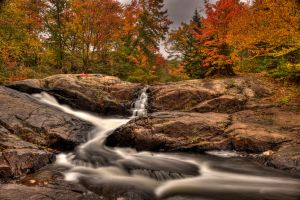 HDR Autumn Stream Falls by Nebey