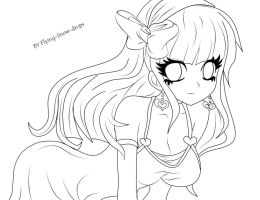 COLLAB-Hinata Lineart by Flying-Snow-Drops