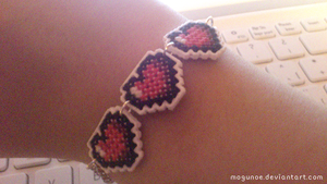 The Legend of Zelda ~ Hearts Bracelet by mogunoe
