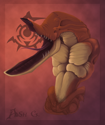 Painting attempt- Scrab by Ashetoret
