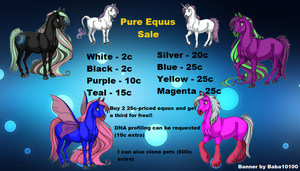 Pure Equus Sale Banner - Ovipets by starscreamfan10100
