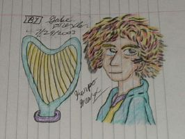 Harpo Drawing by vaudeville-comedy