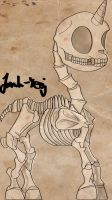 My Little Pony G4 - Unicorn Skeleton by Jonah-yeoj
